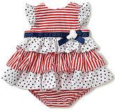 Little Me Baby Girls 3-12 Months Americana Stars/Striped Tiered Bodysuit