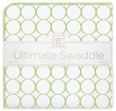 Swaddle Designs Ultimate Receiving Blanket with Mod Circles on White
