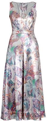 Paco Rabanne Sleeveless Printed Lurex Midi Dress