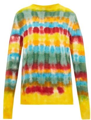 The Elder Statesman Wacky Tie-dye Cashmere Sweater - Womens - Multi