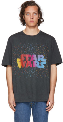 Etro Black and Green Star Wars Edition Logo Paisley T-Shirt