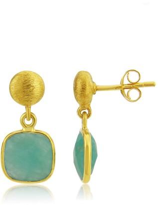 Auree Jewellery Iseo Amazonite & Gold Vermeil Earrings