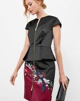 JAUNEL Bejewelled Shadows layered zip dress