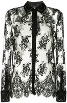 Alexander Wang Lace Shirt With All Over Grommet Detail