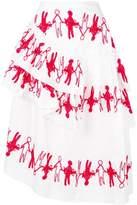 Simone Rocha ruffled embroidered skirt