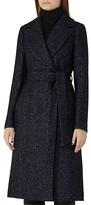 Reiss Farris Herringbone Tweed Coat