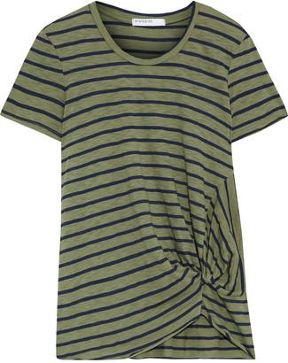 Stateside Twisted Striped Slub Cotton-blend T-shirt