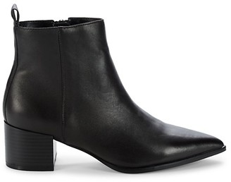 Saks Fifth Avenue Emerson Stacked Heel Leather Booties