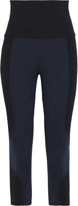 Live The Process Cropped Two-tone Stretch-jersey Leggings