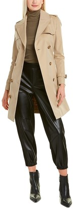 Burberry The Short Islington Cotton Trench Coat