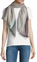 La Fiorentina Striped Cotton-Blend Scarf