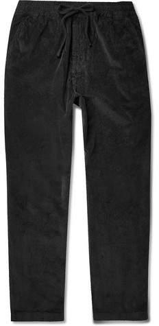 Barena Stretch-cotton Corduroy Drawstring Trousers - Black