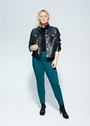 MANGO Violeta BY Slim fit suit pants dark green - S - Plus sizes