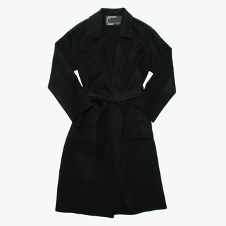 Oakwood Firenze Black Wool Longline Coat