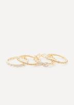 Bebe Mix Crystal Bracelet Set