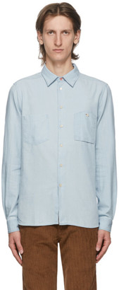 Paul Smith Blue Cotton and Linen Chambray Tailored Shirt