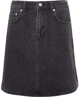 French Connection Pepper Denim Zip Side Mini Skirt