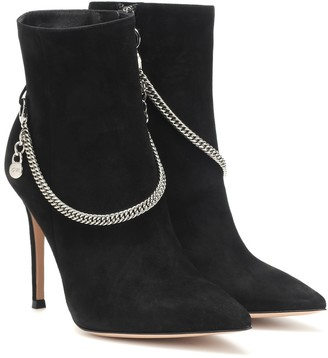 Gianvito Rossi Annie 115 suede ankle boots