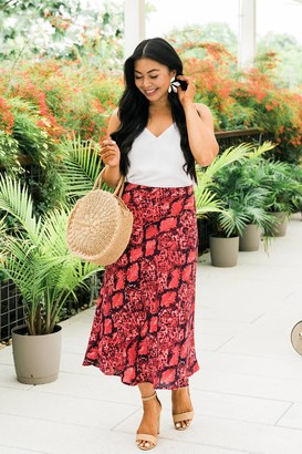 Gibson Roselyn Pleated Maxi Skirt