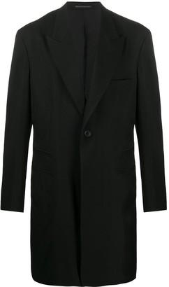 Yohji Yamamoto Long-Line Fitted Blazer