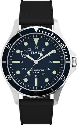 Timex Navi XL Leather Strap Watch, 41mm