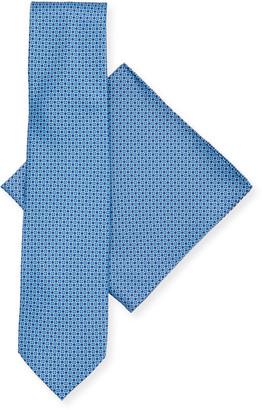 Stefano Ricci Men's Neat Tie/Pocket Square Set