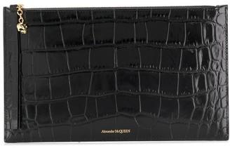 Alexander McQueen Crocodile Embossed Clutch Bag