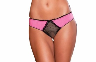 Rene Rofe Women's Crotchless Frills Panty with Back Bows