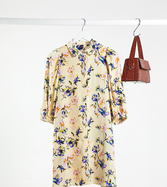 Y.A.S shirt dress in yellow floral