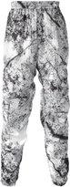 MSGM marble print track bottoms - men - Polyester/Polyamide - 46