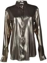 Saint Laurent Metallic Lamé Shirt