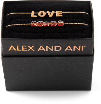 Alex and Ani Love & Crystal Bracelets, Set of 2