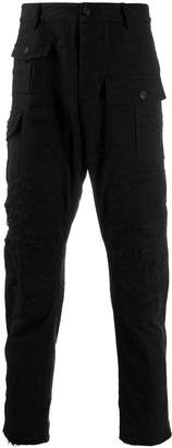 DSQUARED2 zipped combat cargo trousers