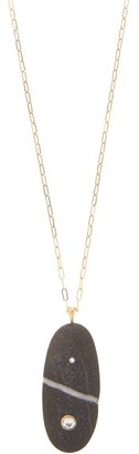Cvc Stones Peak Diamond & 18kt Gold Stone Pendant Necklace - Grey