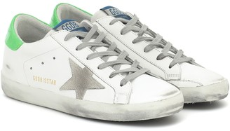 Golden Goose Exclusive to Mytheresa Superstar neon leather sneakers