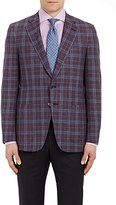Isaia MEN'S PLAID GREGORY SPORTCOAT-PURPLE SIZE 44 R