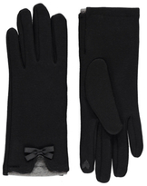 George Bow Detailed Touch Screen Gloves