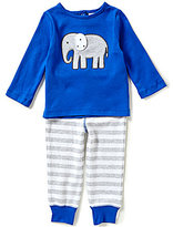 Starting Out Baby Boys 12-24 Months Elephant-Appliqued Long-Sleeve Tee & Pants Set