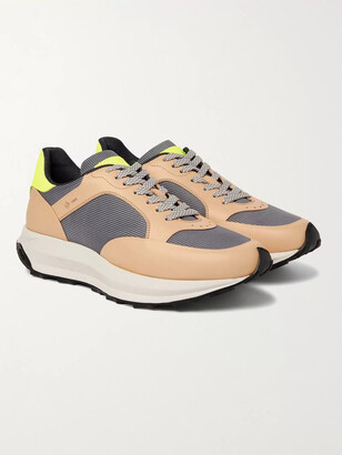 Dunhill Aerial Runner Rubber-Trimmed Mesh And Leather Sneakers