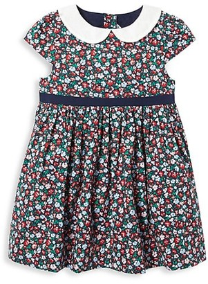 Janie and Jack Baby Girl's 2-Piece Floral Bow Dress & Bloomers Set