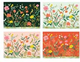 Rifle Paper Co. Shanghai Garden Set Of 12 Note Cards - Pink