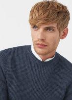 MANGO MAN Reverse Knit Sweater
