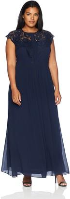 City Chic Women's Apparel Women's Plus Size Maxi LACE Bodice