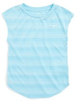 Nike Girl's Stripe Heather Tee