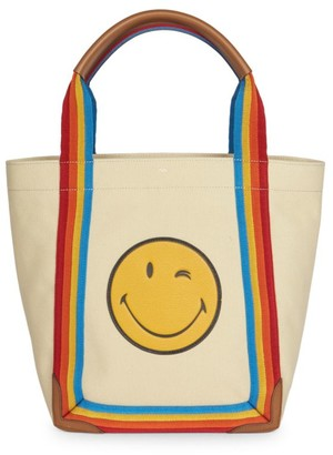 Anya Hindmarch Small Smiley Face Canvas Tote