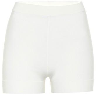 Alaia High-rise wool-blend shorts