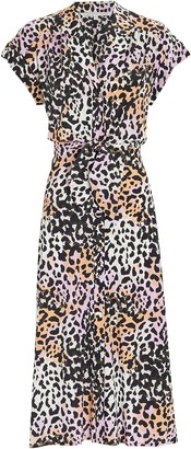 Veronica Beard Amani Leopard Print Shirt Dress