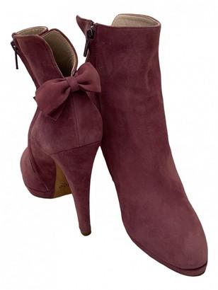 Chloé Purple Suede Ankle boots