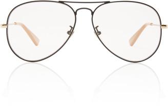 Gucci Slim Metal Aviator Sunglasses