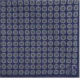 Canali Floral tile wool pocket square